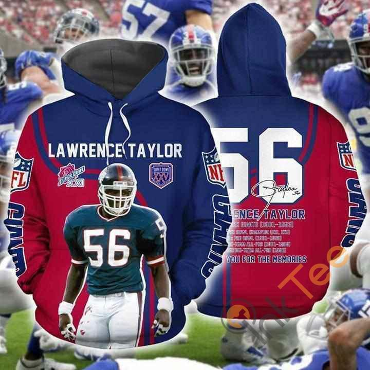 Lawrance Taylor Nfl New York Giants Thank You For Memories Signed Hoodie 3d