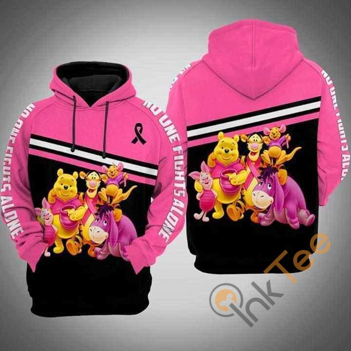 No One Fight Alone Winnie The Pooh Eeyore Tigger Br East Cancer Hoodie 3d