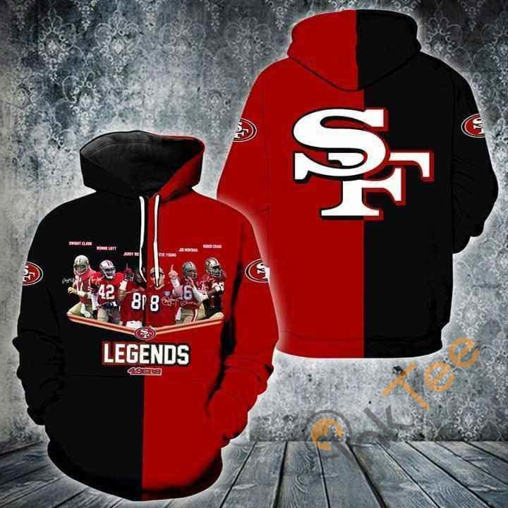 San Francisco 49ers Legends Players Signed Hoodie 3d