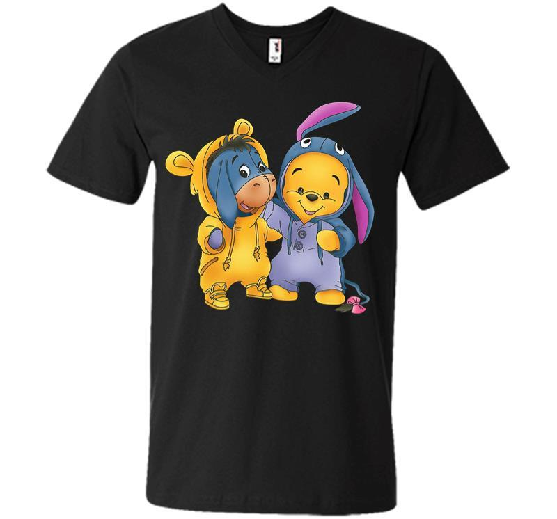Baby Eeyore And Pooh V-neck T-shirt