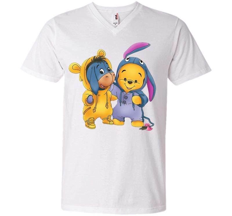 Baby Eeyore And Pooh V-neck T-shirt Inktee Store
