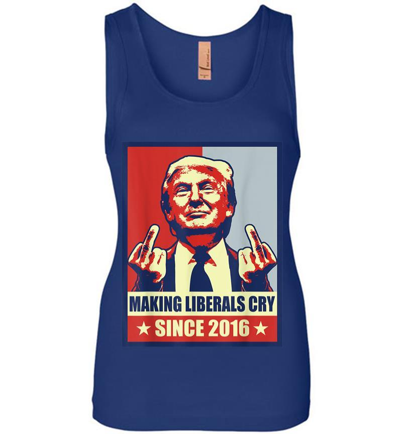 Pro President Donald Trump Gifts 2020 Making Liberals Cry Women Jersey Tank Top Inktee Store