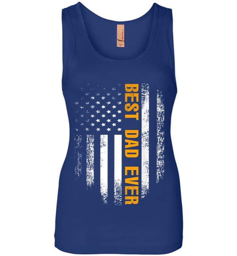 Vintage Best Dad Ever American Flag Fathers Day Gift Women Jersey Tank Top Inktee Store