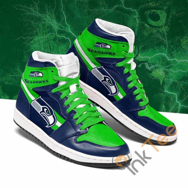 Seattle Seahawks Rugby Team Custom Air Jordan Shoes