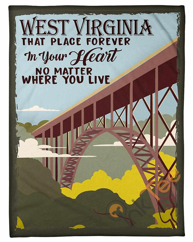 West Virginia That Place Forever In Your Heart Fleece Blanket