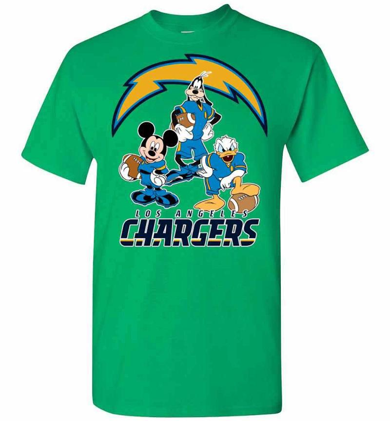 Mickey Donald Goofy The Three Los Angeles Chargers Men's T-shirt Inktee Store