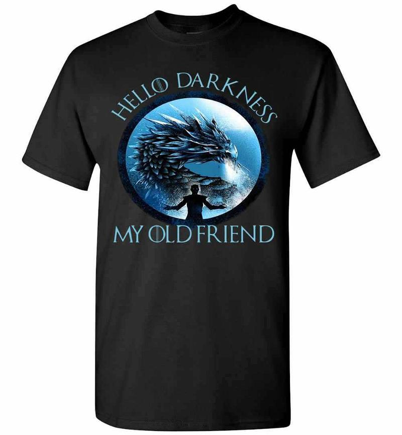 The Night King Hello Darkness My Old Friend Ladies Men's T-shirt Inktee Store