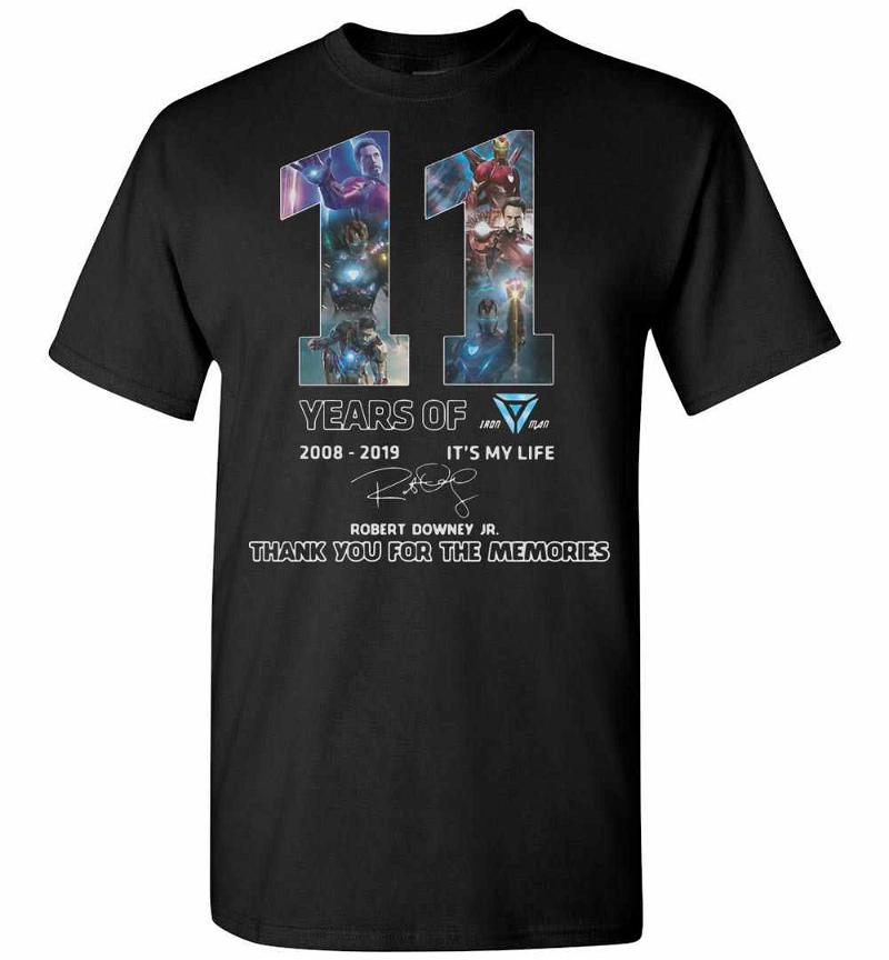 11 Years Of Iron Man Thank You For The Men's T-shirt Inktee Store