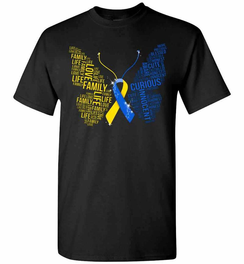 Butterfly Down Syndrome Awareness Men's T-shirt Inktee Store