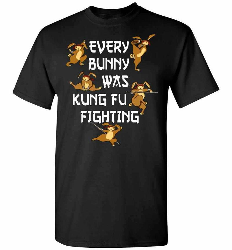Every Bunny Was Kung Fu Fighting Funny Easter's Day Men's T-shirt Inktee Store