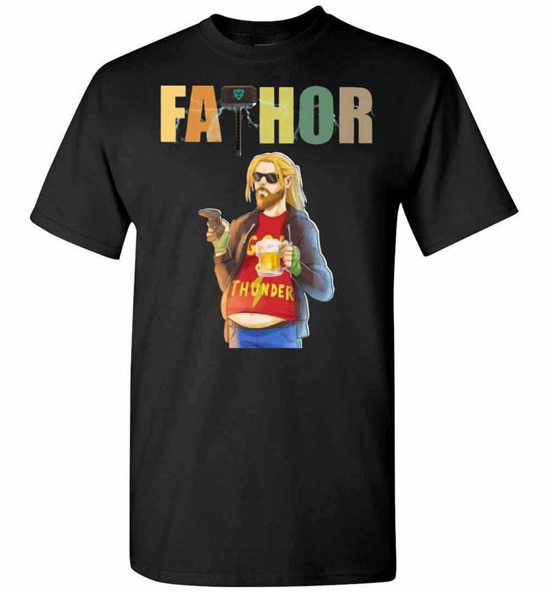Fathor God Thunder Beer Belly Funny Men's T-shirt Inktee Store
