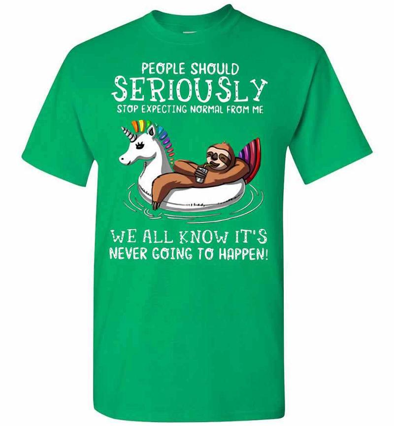 Sloth Normal People Should Seriously Stop Expecting From Men's T-shirt Inktee Store