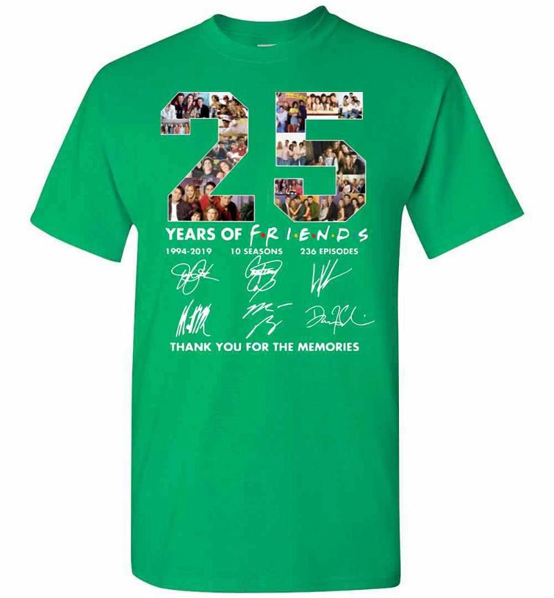 25 Years Of Friends 1994-2019 Thank You For The Memories Men's T-shirt Inktee Store