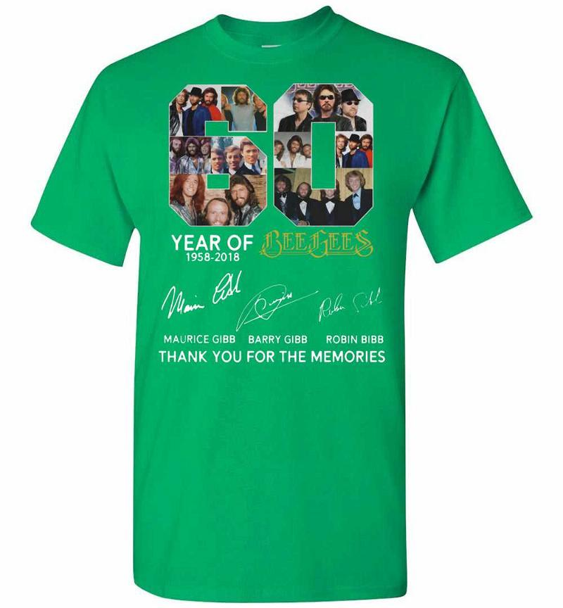 Best 60 Years Of Bee Gees Maurice Signature Thank You Men's T-shirt Inktee Store