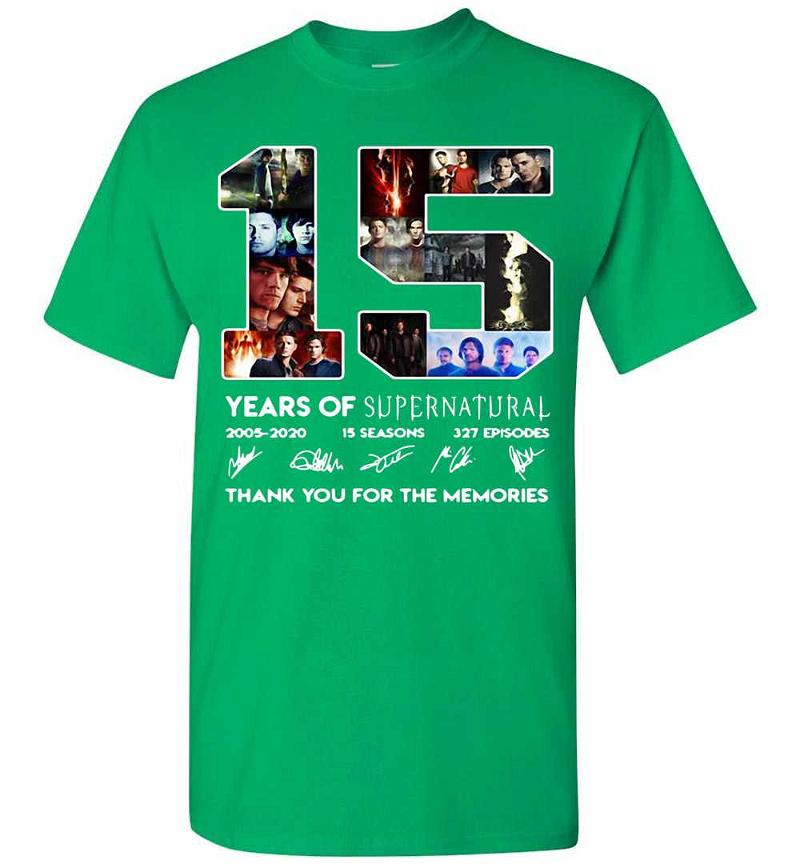 15 Years Of Supernatural Thank You For The Memories Men's T-shirt Inktee Store
