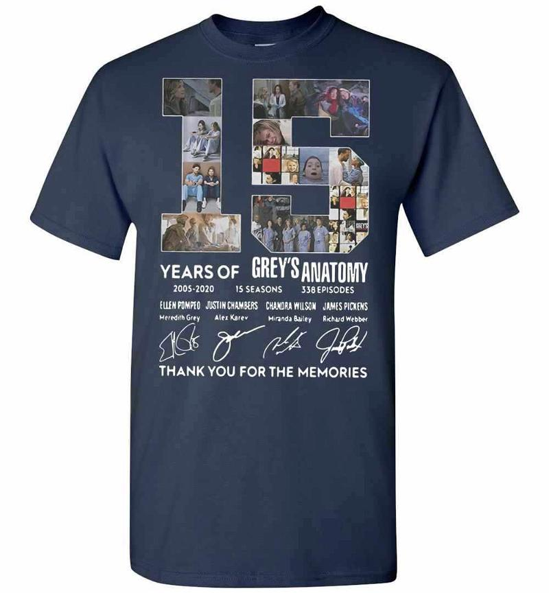 15 Years Of Greys Anatomy Thank You For The Memories Men's T-shirt Inktee Store