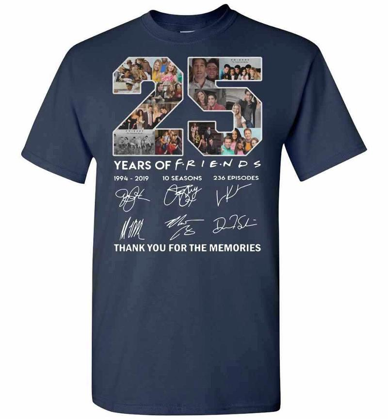 25 Years Of Friends Thank You For The Memories Signature Men's T-shirt Inktee Store