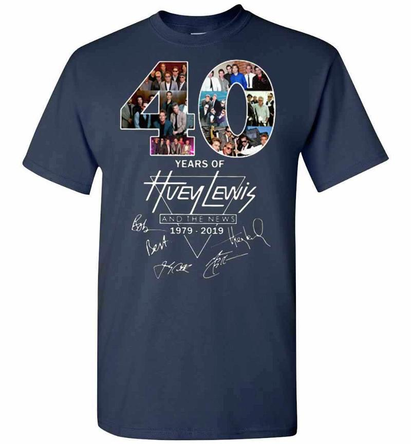 40 Years Of Huey Lewis And The News 1979-2019 Men's T-shirt Inktee Store