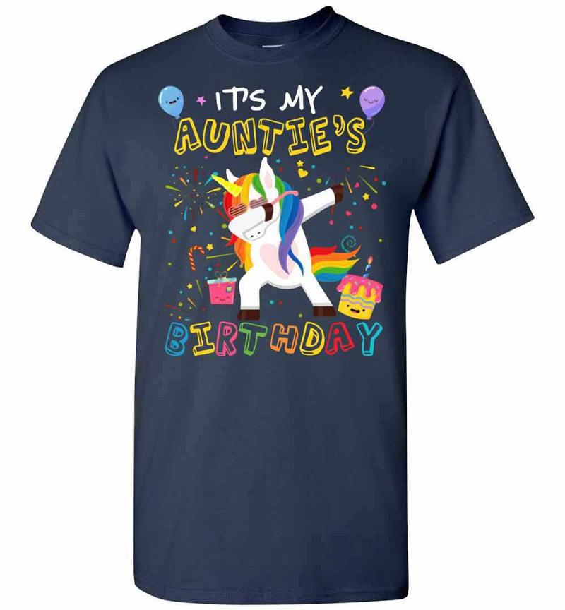 Awesome It's My Auntie's Birthday Funny Kid Men's T-shirt Inktee Store