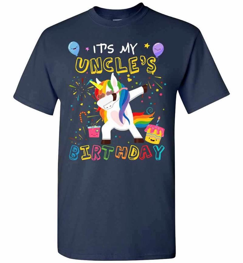 Awesome It's My Uncle's Birthday Funny Kid Men's T-shirt Inktee Store