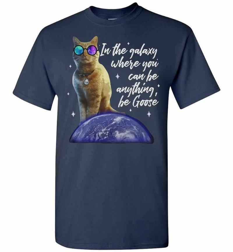 Cat In The Galaxy Where You Can Be Anything Be Goose Men's T-shirt Inktee Store