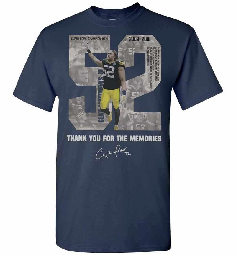 Clay Matthews 52 Thank You For The Memories Signature Men's T-shirt Inktee Store
