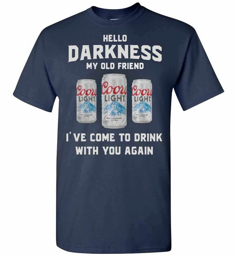 Coors Light Hello Darkness My Old Friend I've Come To Men's T-shirt Inktee Store