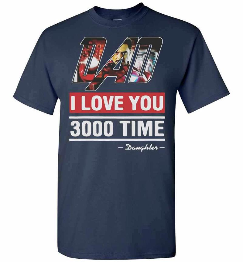 Dad I Love You 3000 Time Iron Man Men's T-shirt Inktee Store