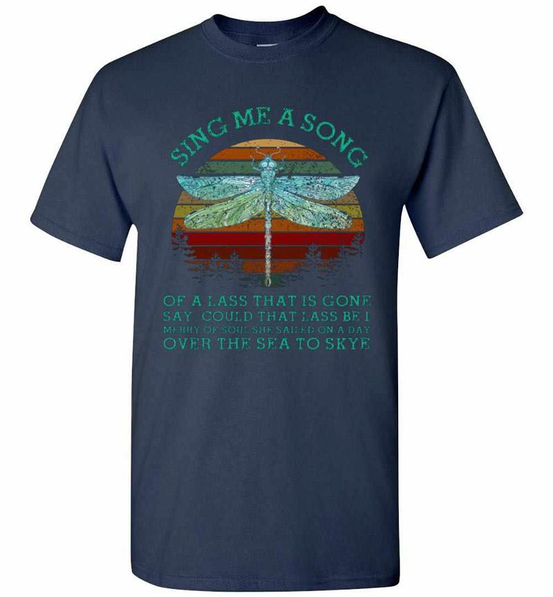 Dragonfly Sing Me A Song Retro Vintage Sunset Men's T-shirt Inktee Store