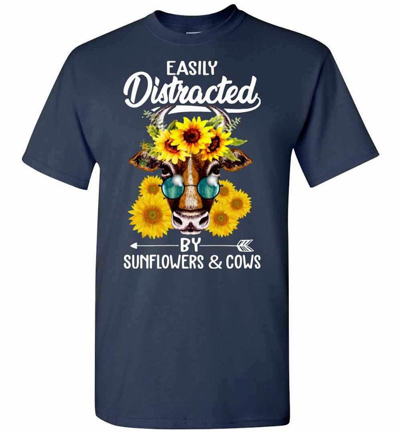 Easily Distracted By Sunflowers And Cows Men's T-shirt Inktee Store