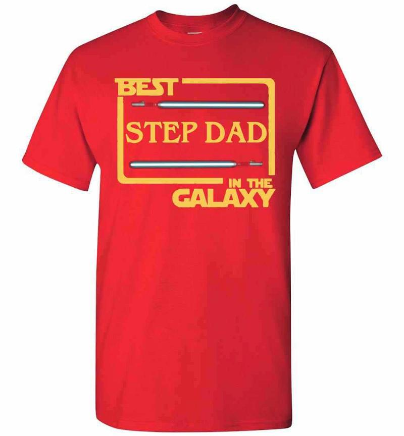 Best Step Dad In The Galaxy Men's T-shirt Inktee Store