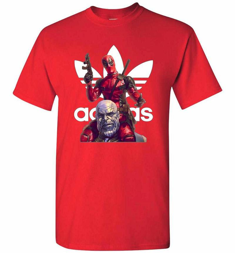 Deadpool and Thanos Is Adidas Fan Men's T-shirt Inktee Store