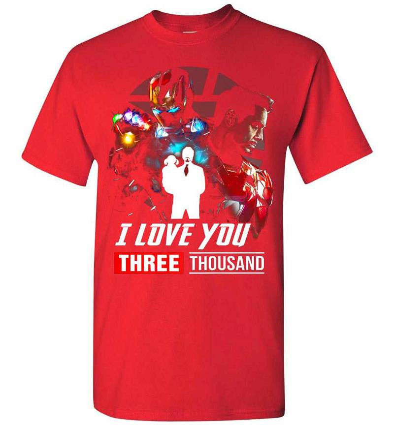 I Love You 3000 Gift Dad And Daughter Iron Man Avengers Men's T-shirt Inktee Store