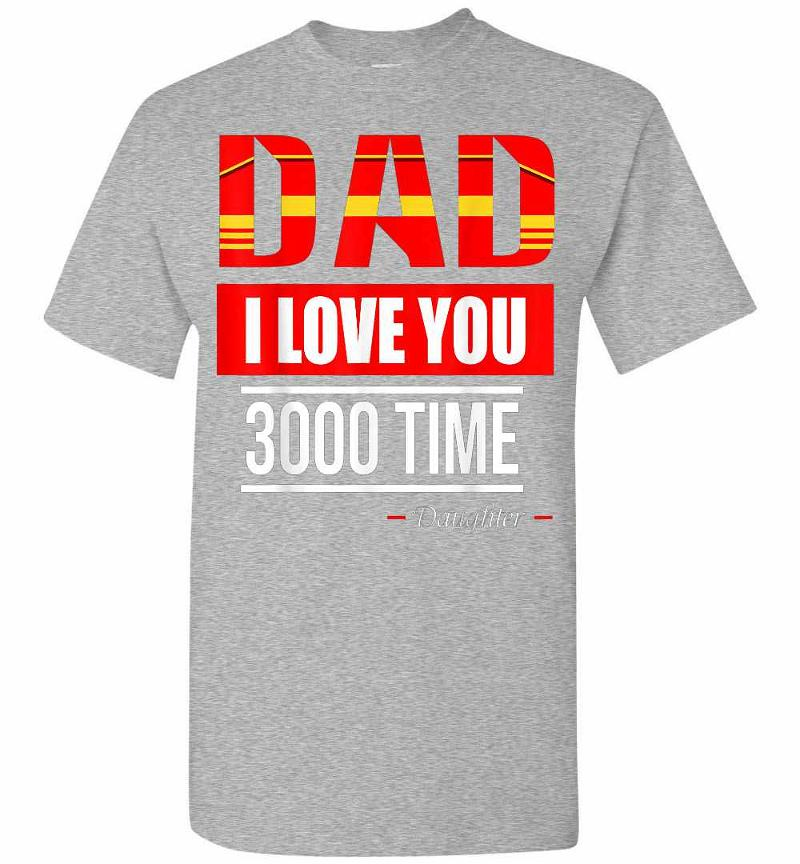 I Love You 3000 Times Marvel Iron Man Men's T-shirt Inktee Store