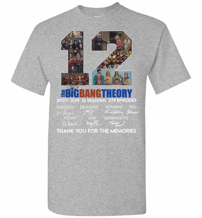 12 The Big Bang Theory Thank You For The Memories Men's T-shirt Inktee Store