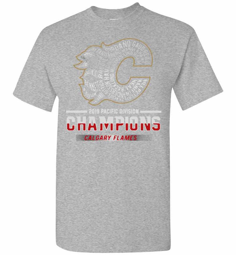 2019 Pacific Division Champions Calgary Flames Men's T-shirt Inktee Store