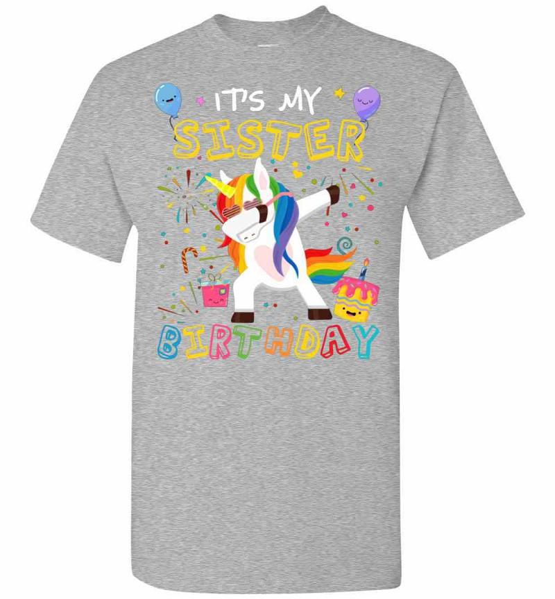 Awesome It's My Sister's Birthday Funny Kid Men's T-shirt Inktee Store