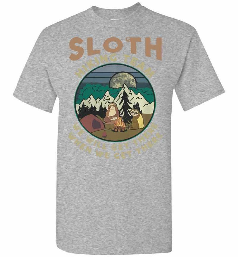 Camping Sloth Hiking Team We Will Get There When We Get Men's T-shirt Inktee Store