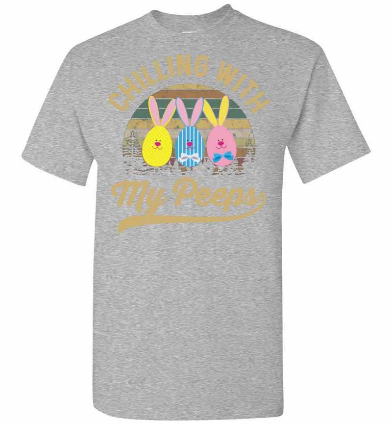 Chilling With My Peeps Cute Funny Easter Men's T-shirt Inktee Store