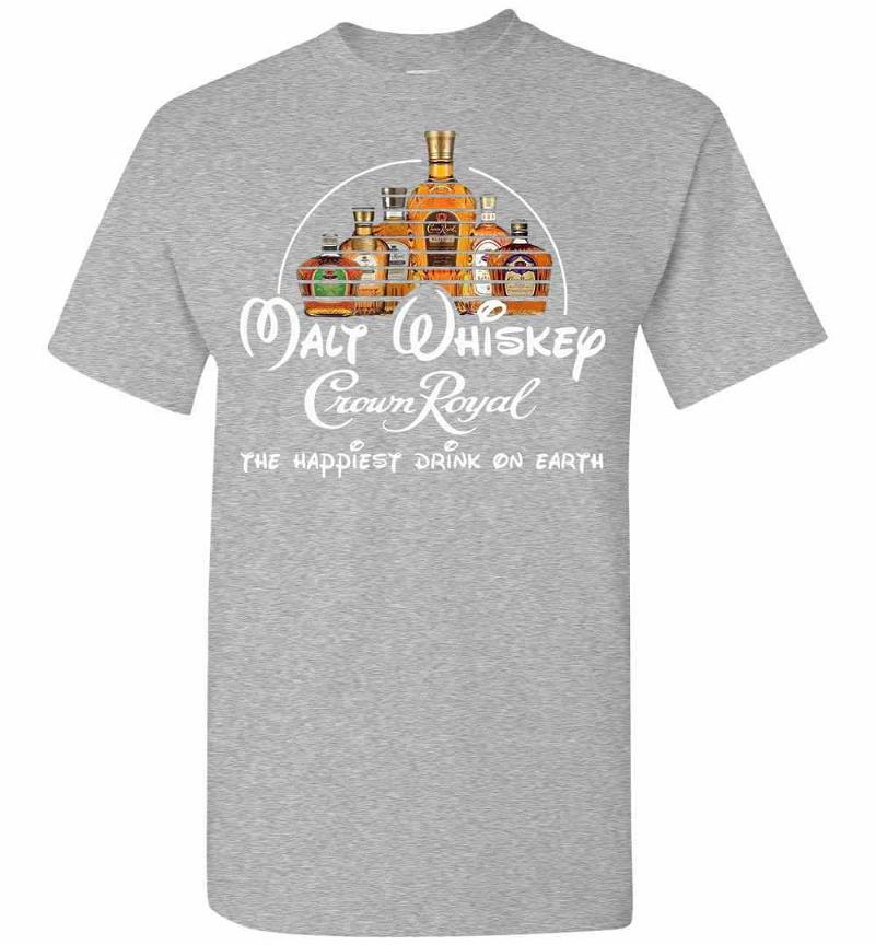 Wine Malt Whiskey Crown Royal The Happiest Drink On Men's T-shirt Inktee Store