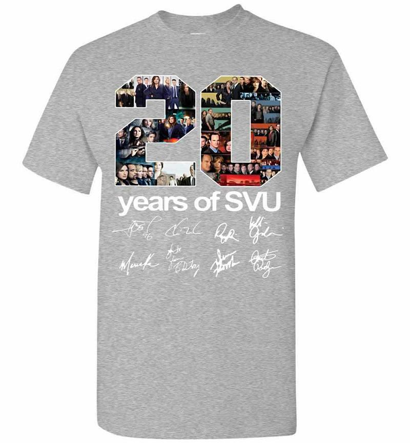 20 Years Of Svu Law And Order All Signatures Men's T-shirt Inktee Store