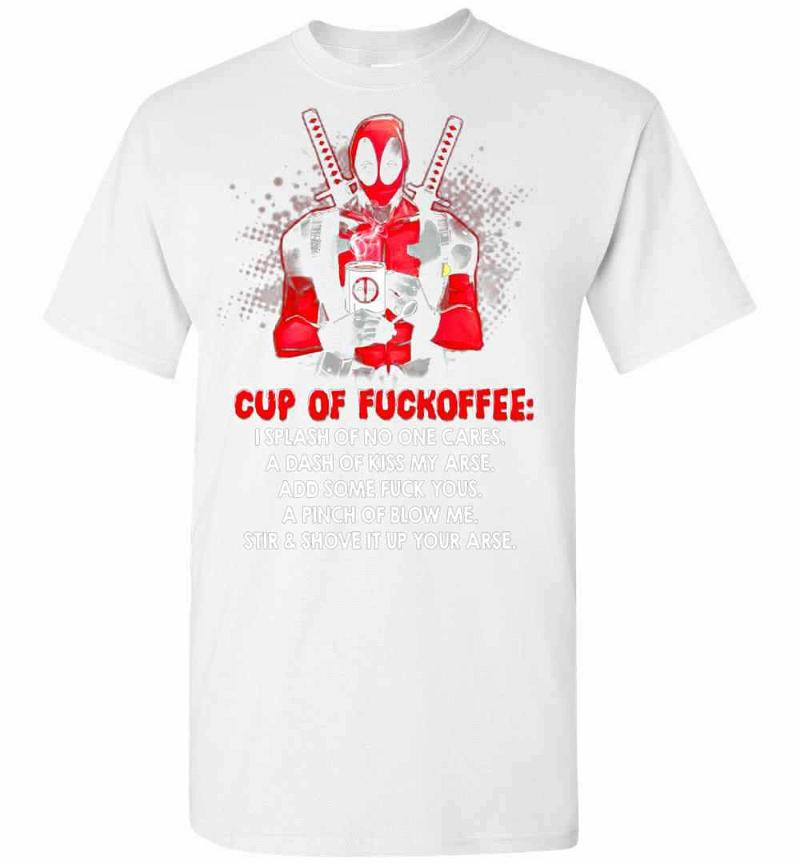 Deadpool Cup of Fuckoffee Men's T-shirt Inktee Store