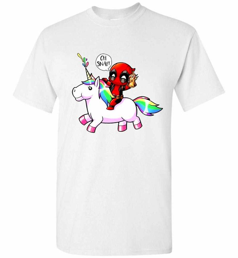 Deadpool and Unicorn Oh Snap Men's T-shirt Inktee Store