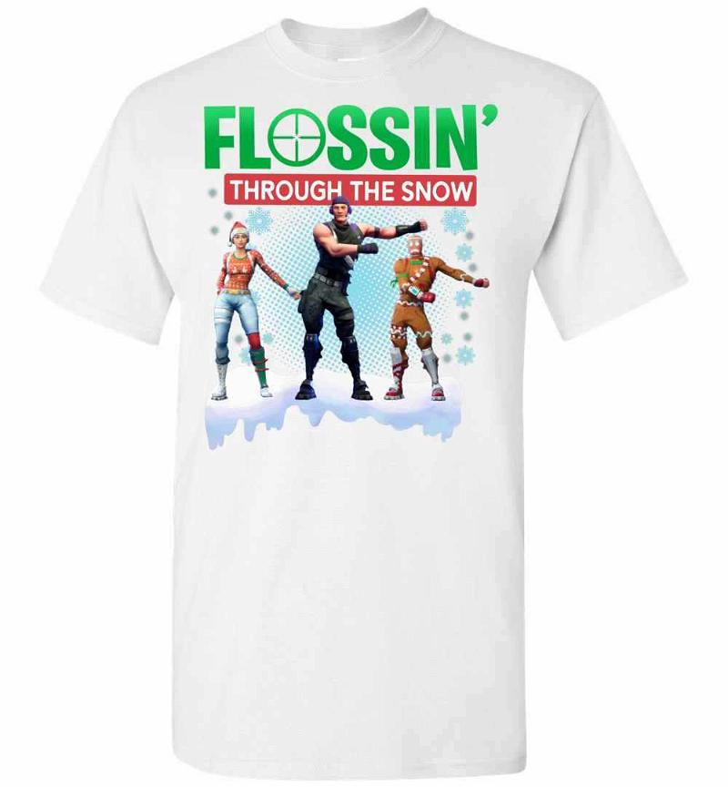 Flossing Through The Snow Fortnite Christmas Men's T-shirt Inktee Store