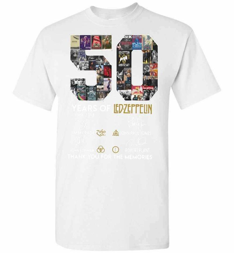 50 Years Of Led Zeppelin 1968-2018 Signature Men's T-shirt Inktee Store