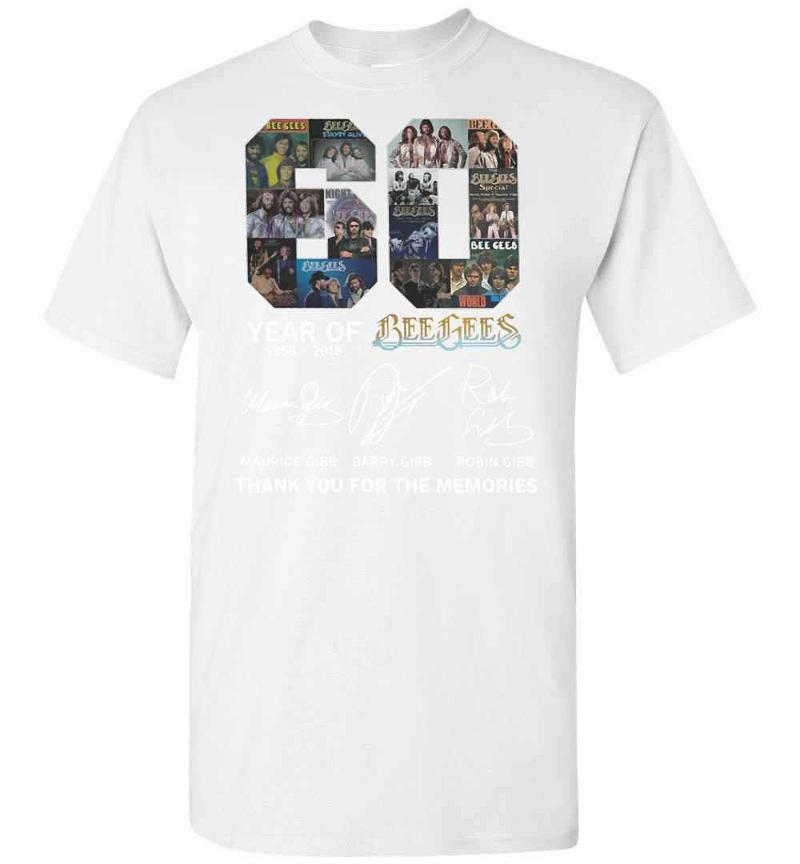 60 Years Of Bee Gees Maurice Signature Thank You For The Men's T-shirt Inktee Store