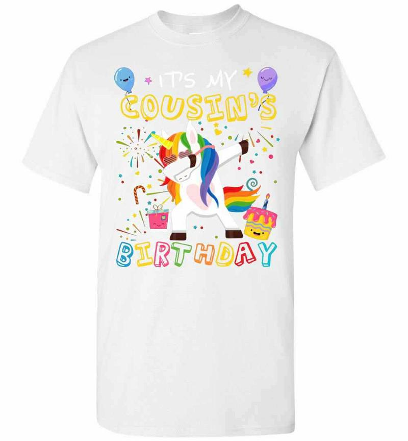 Awesome It's My Cousin's Birthday Funny Kid Men's T-shirt Inktee Store