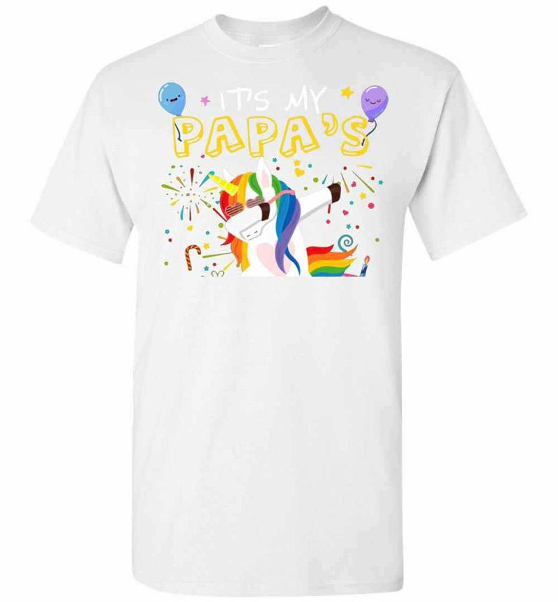 Awesome It's My Papa's Birthday Funny Kid Men's T-shirt Inktee Store