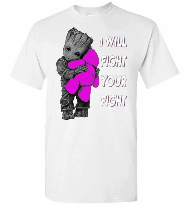 Baby Groot Hugs Teddy Bear I Will Fight Your Fight Men's T-shirt Inktee Store
