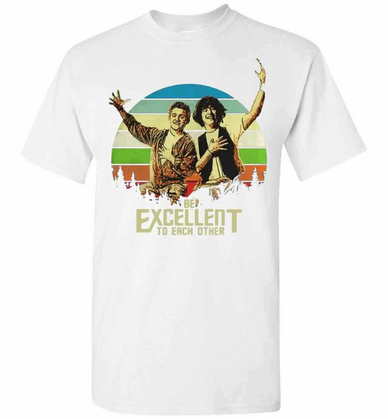 Bill And Ted's Be Excellent To Each Other Vintage Sunset Men's T-shirt Inktee Store